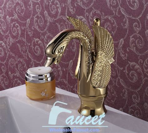 luxury swan design bathroom faucet contemporary