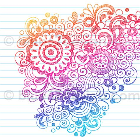 doodle designs sketchy flowers notebook doodle design elements