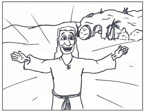 free he has risen coloring pages