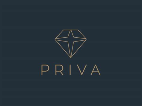 diamond pattern logo priva diamond logo design 1 by the logo smith by the logo