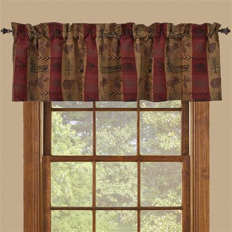 Western rustic curtains drapes valances pillows cabin place