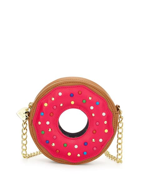 Donat Leather lyst betsey johnson donut faux leather crossbody bag in
