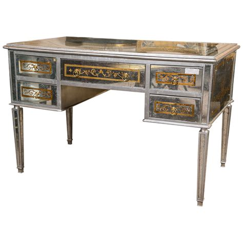 Mirrored Desks And Vanities by Maison Jansen Verre 201 Glomis 233 Mirrored Desk Or