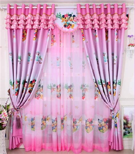 girls room blackout curtains home window decoration cartoon children s curtains pink