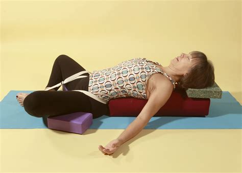 reclined bound angle pose restoring calm and ease