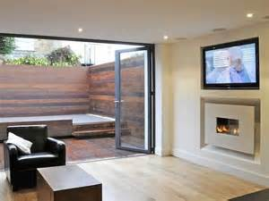 Plasma Gas Fireplace by In The Wall Wide Screen Fireline With Recess And 50