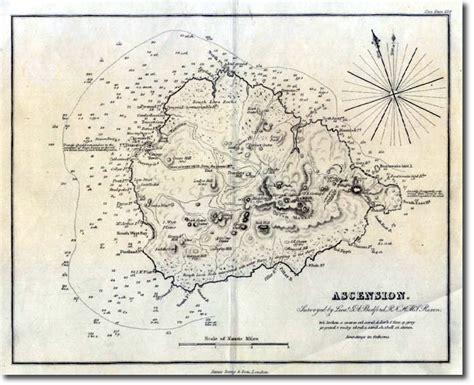 ascension island map atlantic ascension 1855 map