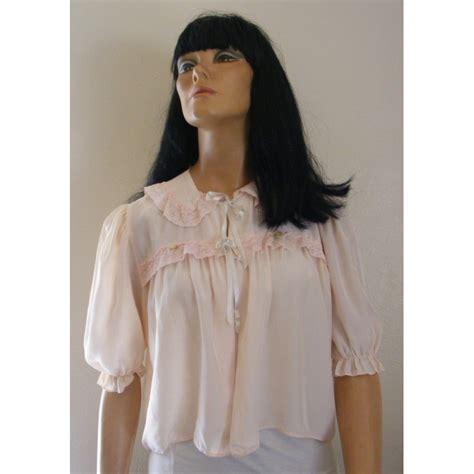 womens bedding bed jacket womens pink lace short sleeve angel elegance vintage