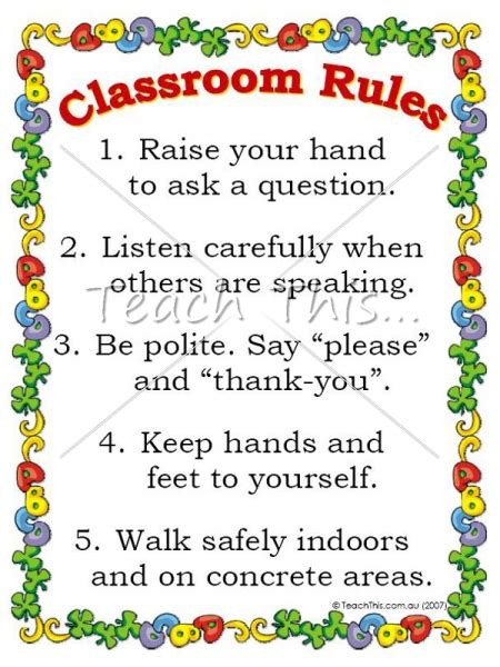 printable toddler classroom rules 5 best images of free teacher printables classroom rules