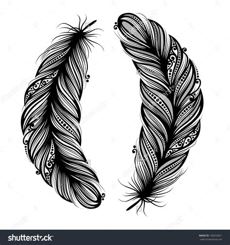 tattoo designs vector peerless decorative feather vector patterned design