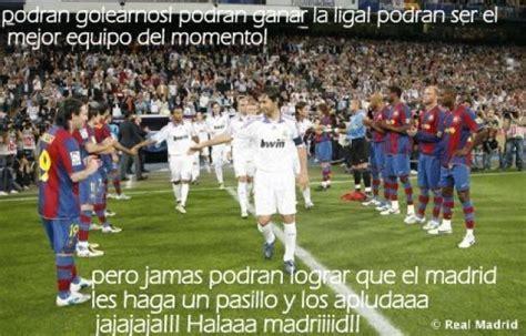 imagenes del real madrid aplastando al barcelona foto pasillo del barcelona al real madrid