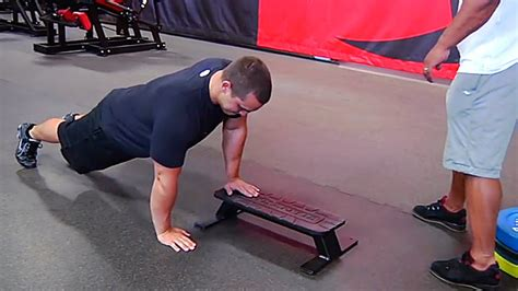 plyometric bench press tip master the depth plyo push up t nation