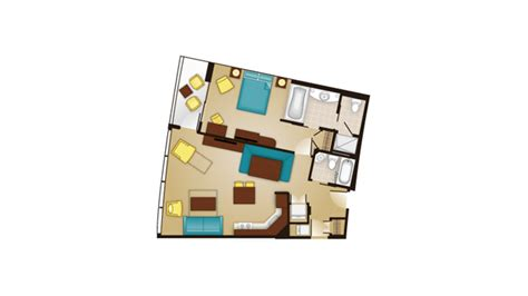 bay lake tower one bedroom villa floor plan bay lake tower dvc welcome home