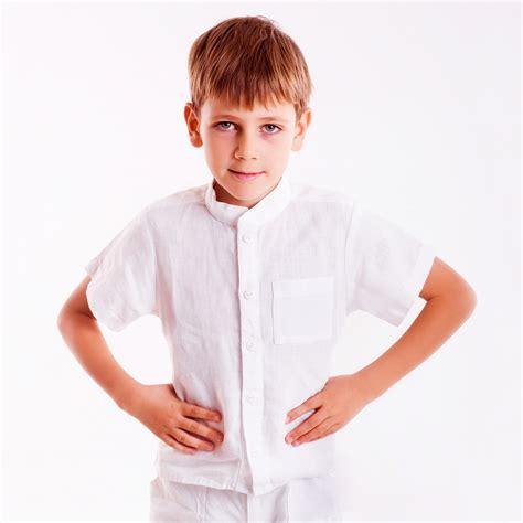boy s boys white summer dress shirt linenkids linen store