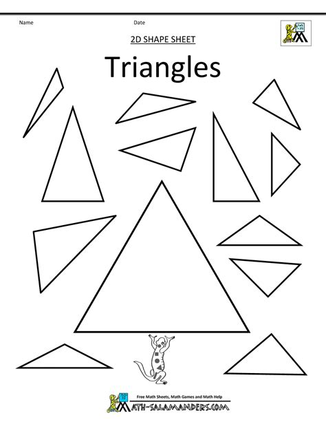 triangle printable worksheets for preschoolers free coloring pages of tracing and triangle