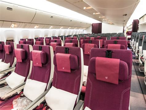 most comfortable airline seats economy photos a tour of qatar airways plane and see why the