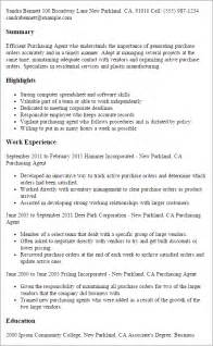 Purchasing Resumes by Professional Purchasing Templates To Showcase Your Talent Myperfectresume