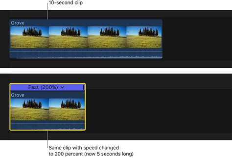 final cut pro group clips final cut pro x change clip speed