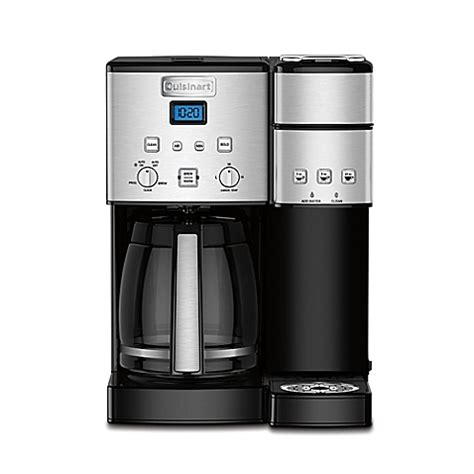 cuisinart coffee maker bed bath beyond cuisinart 174 coffee center ss 15 12 cup coffee maker and single serve brewer bed