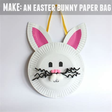 Easter Paper Bag Crafts - make an easter bunny paper bag handmade kidshandmade