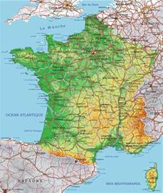 Physical Map Of France by France Vector Physical And Administrative Map Full