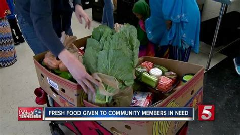 Free Food Giveaway Today - fresh food giveaway helps those in need newschannel 5 nashville