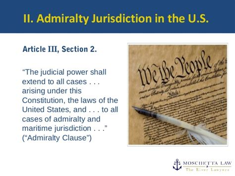 article iii section 2 of the constitution admiralty maritime law pittsburgh moschetta law firm