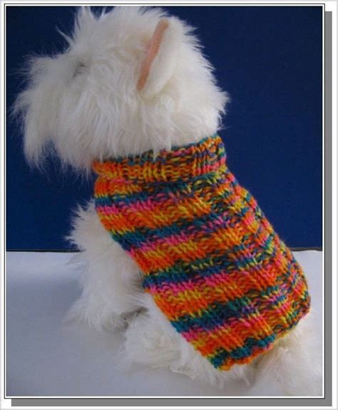 knitting pattern for dog sweater dog sweater knitting pattern basic ribbed design very easy to