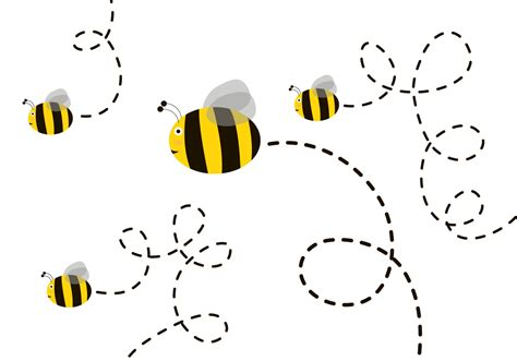 svg pattern animation free cute bee vector download free vector art stock