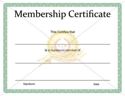 templates for membership certificates download and use one of our membership certificate