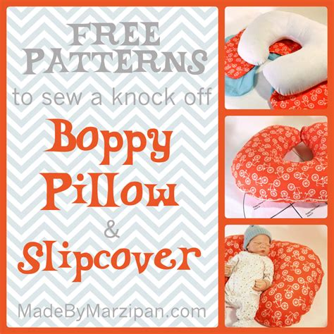 sew a poppy nursing pillow slip cover made by marzipan