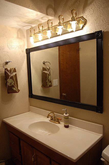 inexpensive bathroom mirrors cheap interesting way to frame our a standard construction