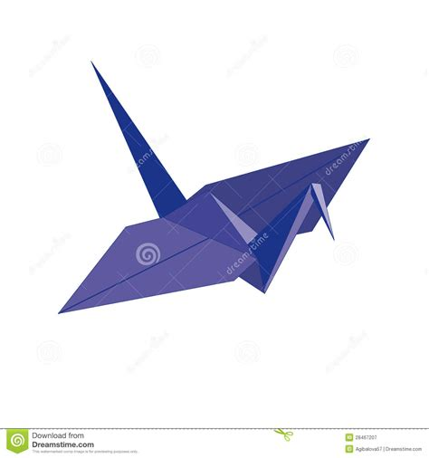 Origami Blue Bird - origami blue bird of paper royalty free stock photography