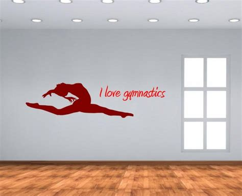 love gymnastics decal version  wall stickers store
