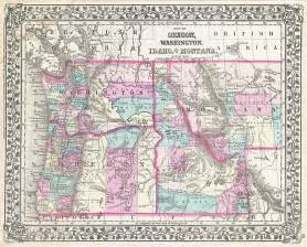 map of idaho and oregon file 1877 mitchell map of oregon washington idaho and