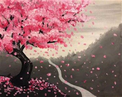paint nite fresno best 25 cherry blossom painting ideas on