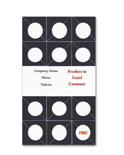 customer punch card template 30 printable punch reward card templates 101 free