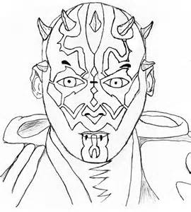 darth maul coloring page kids coloring