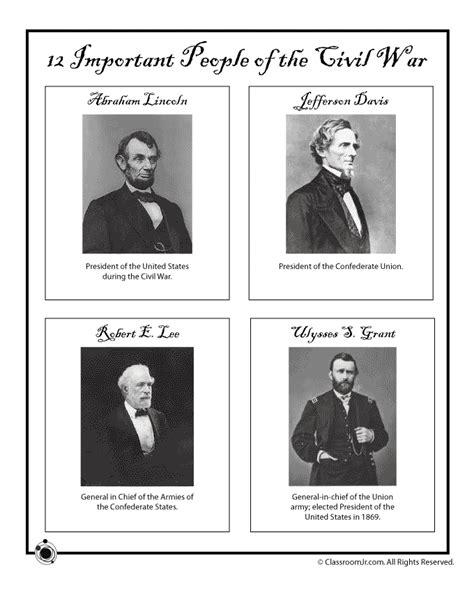 civil war worksheets 5th grade printable civil war generals and presidents woo jr kids activities