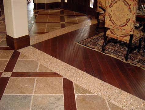 wood tile flooring ideas floor combination wooden floor tile and wood floor