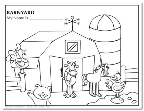 barnyard animals coloring sheets