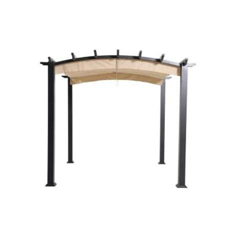 9 x 9 gazebo hton bay 9 ft x 9 ft steel and aluminum arched