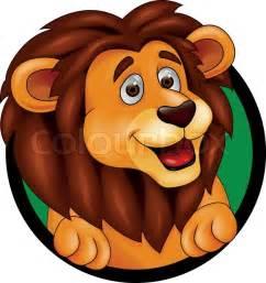 vector illustrtaztion lion cartoon vector colourbox