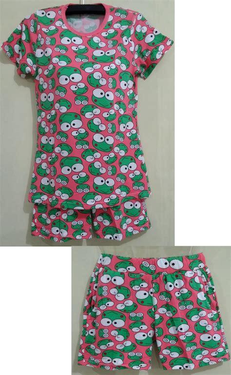 Baju Tidur Babydolls 9 jual baju tidur setelan baby doll lengan pendek motif kero keropi yuphoria shop