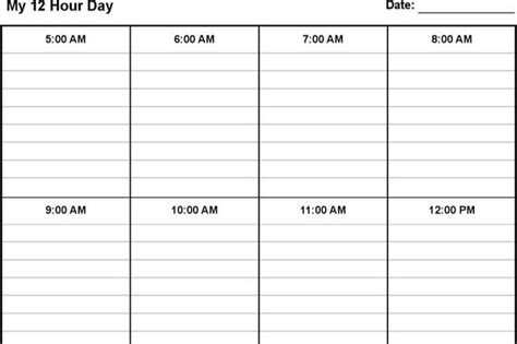 12 hour shift schedule template schedule template free premium templates