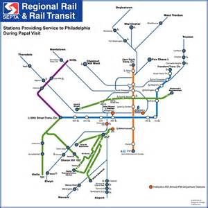 Septa Subway Map by Septa Papal Visit Service Maps