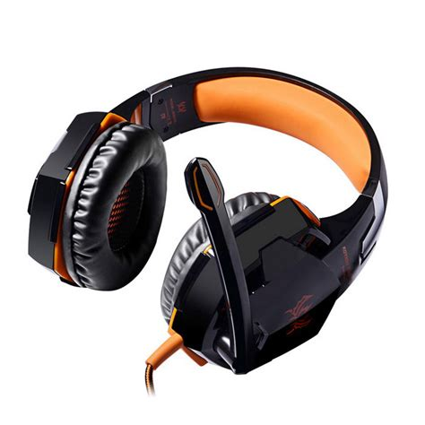 Headset Each G2000 kotion each g2000 headband headset headphone orange black free shipping dealextreme