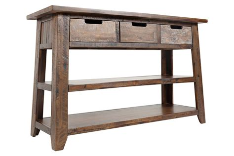 sofa table with 3 drawers castered sofa table with 3 drawers at gardner white