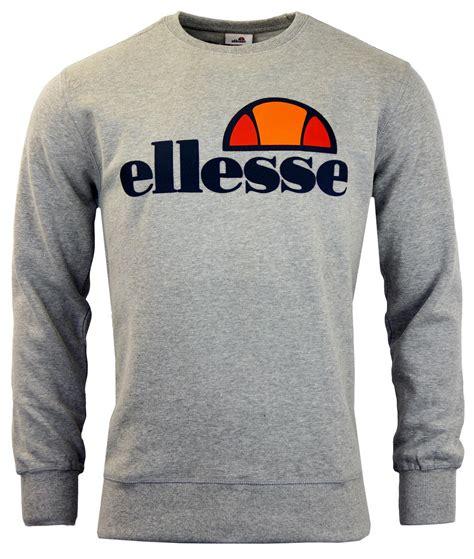 Sweater Ellesse Ellesse Succiso Retro 70s Classic Crew Neck Sweater Grey