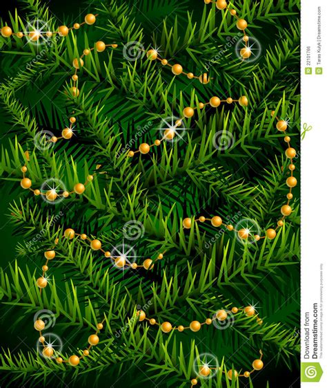 decorative branches with beads christmas tree branches and decorative beads royalty free
